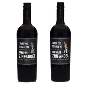 Image of   2 flasker I Want You to Taste My, Premium Zinfandel