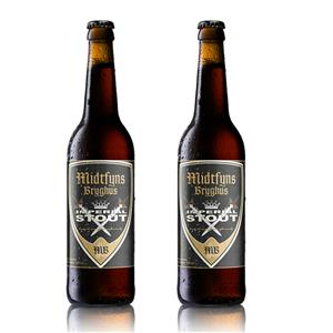 Image of   2 stk. Midtfyns Bryghus 0,5L Imperial Stout
